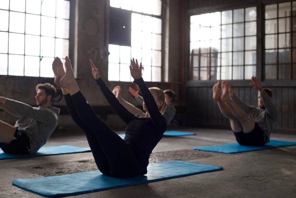 Teaser klassische Pilates Übung
